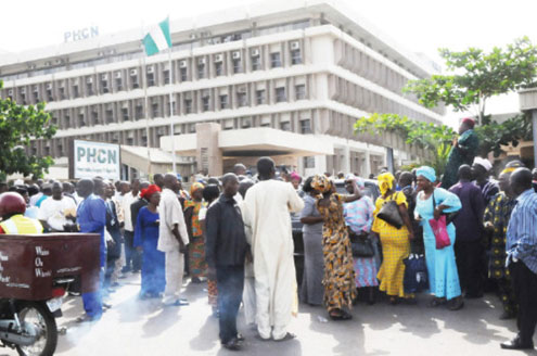 PHCN Staff Picketing in Abuja