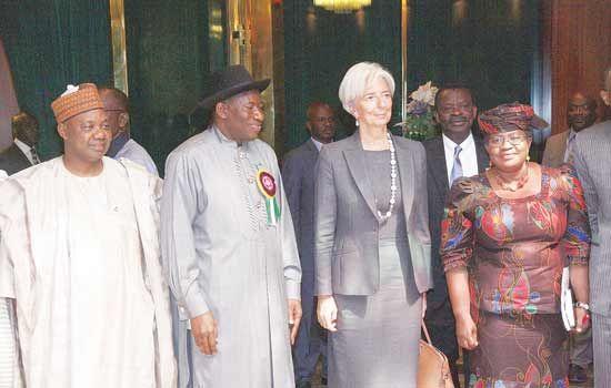 Lagarge with president Jonathan