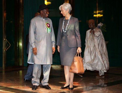 christine lagarde and GEJ