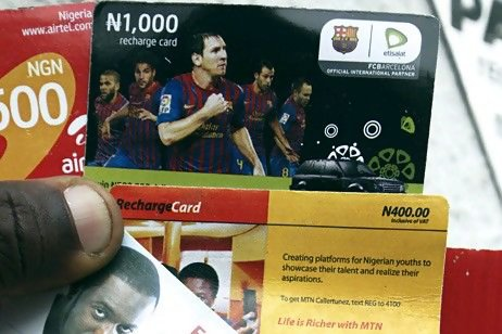 Airtel, MTN, Glo, Etisalat Recharge Cards