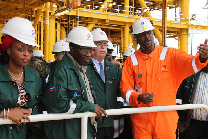 President Goodluck Jonathan and Oil Minister, Diezani Madueke