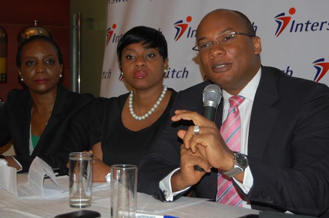 Mitchell Elegbe (r), Interswitch CEO