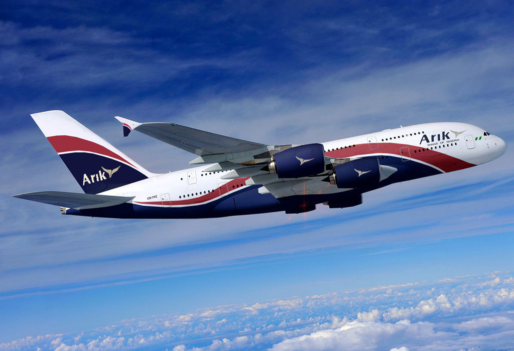 Arik aircraft in flight