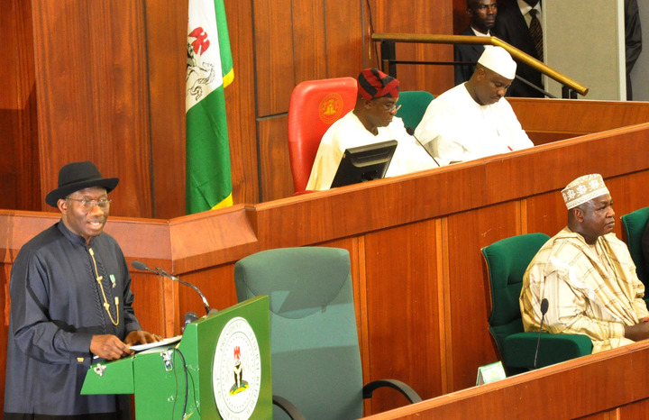 President Jonathan Presents Budget at the National Assembly