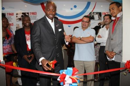 Steve officially opens Domino's