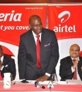AIRTEL CEO SEGUN OGUNSANYA FLANKED BY (L) OLU AKANMU, DEEPAK SRIVATSAVA, ED AND INUSA BELLO