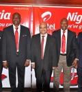AIRTEL NIGERIA OFFICIALS (L-R) OLU AKANMU, SEGUN OGUNSANYA, DEEPAK SRIVATSAVA, INUSA BELLO AND EMEKA OPARAH