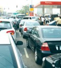 Long-queue at fuel station