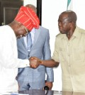 PIC. 15. CHAIRMAN, HOUSE OF REPRESENTATIVES COMMITTEE ON   DISASTER MANAGEMENT VISITS GOV.OSHIOMHOLE IN BENIN