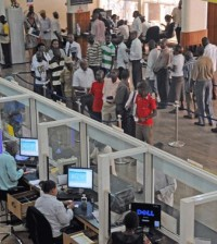 Customers-waiting-to-be-served-in-a-banking-hall